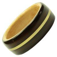 Holzring, Schmuck für Verlobungsring, Ehering, Ebenholz, Gold