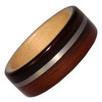 Holzring, Schmuck für Verlobungsring, Ehering, Palisander, Weissgold